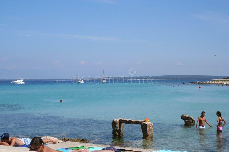 beach adriatic obraz royalty free