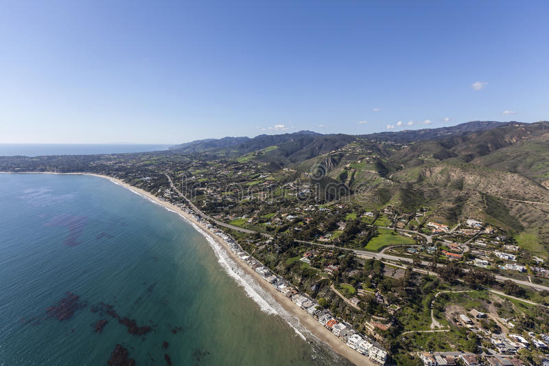 Beach Aerial Malibu California stock image