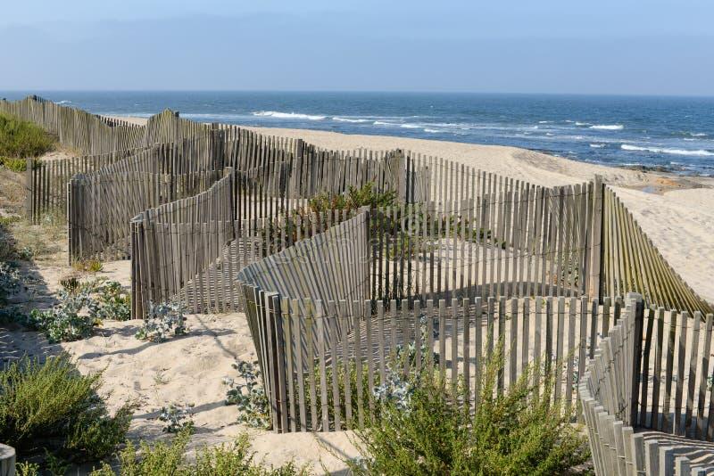 Beach in Aguda stock images