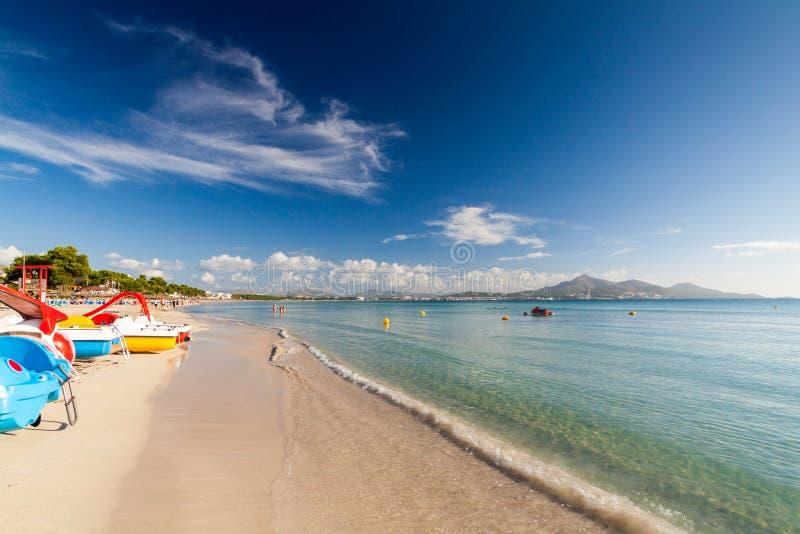 Beach of Alcudia stock image