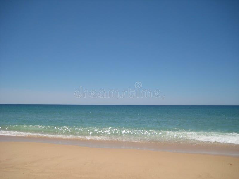 Beach in Algarve, Portugal stock photography