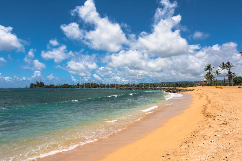 Beach along North Shore coast, Oahu. A view of a beach along North Shore coast in Oahu, Hawaii royalty free stock photo