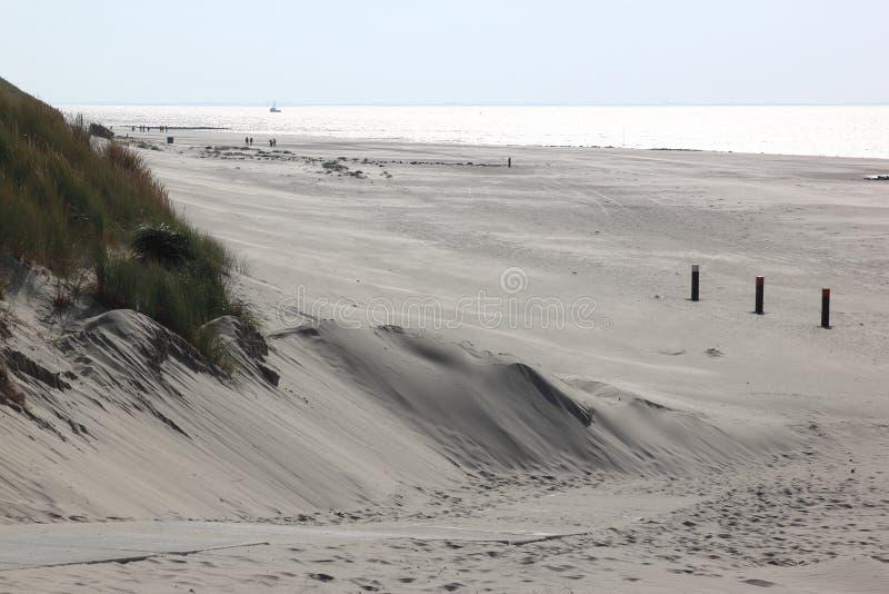 Beach of Ameland Island near Hollum, Netherlands royalty free stock photos