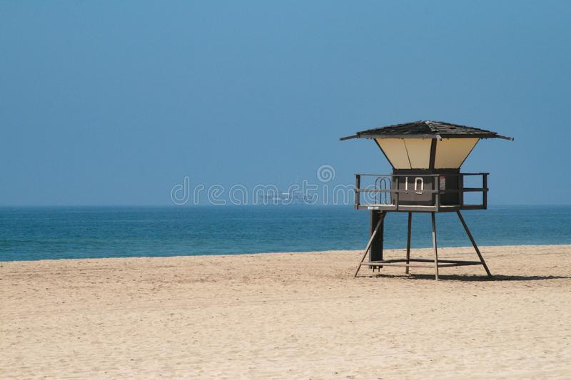 Beach in America stock photography