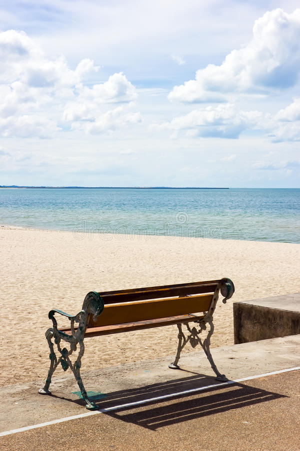 Free Beach And Bench In Sunny Day Stock Photos - 26409803