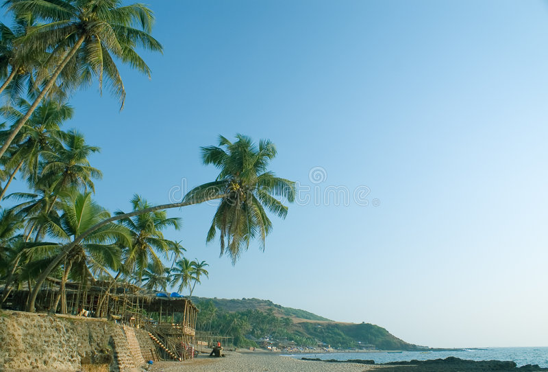beach anjuna fotografia royalty free