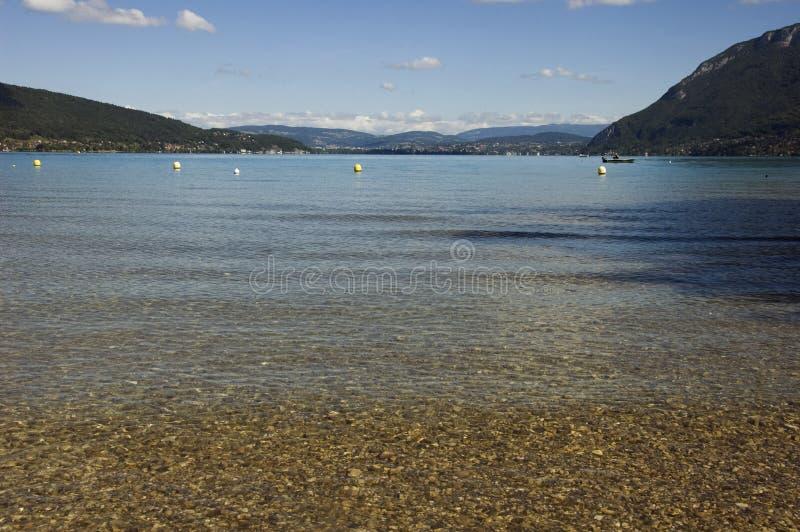 Download Beach at Annecy lake stock image. Image of europe, lake - 21421259