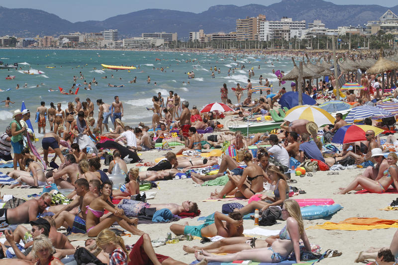 beach arenal Mallorca fotografia stock