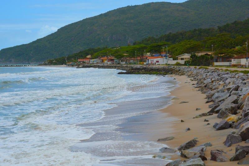 Beach armacao armação ,Florianopolis,Brazil. Beach armacao armação,Florianopolis,Brazil stock photography