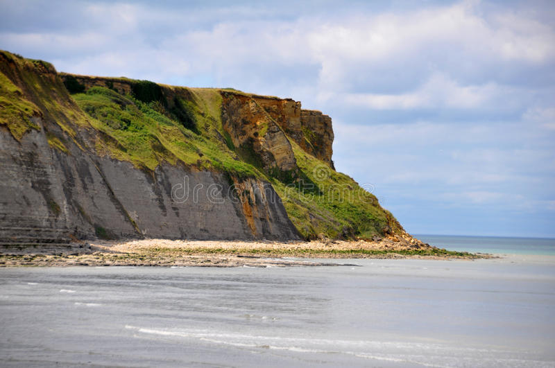 Beach of Arromanches in France. DDay Landing Beach royalty free stock photography