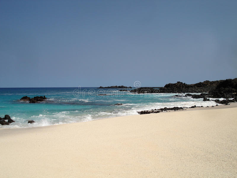 Beach On Ascension Island Royalty Free Stock Photos