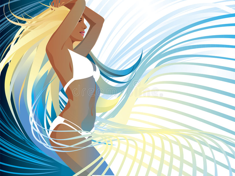 Beach Babe vector illustration