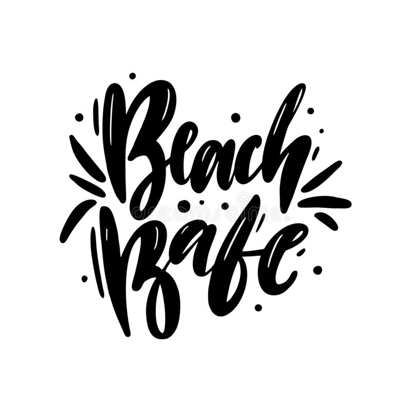 Beach Babe hand drawn vector lettering. Isolated on white background vector illustration