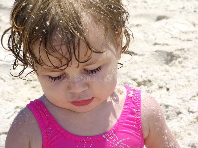 Download Beach Baby in the Sand stock image. Image of sandy, baby - 170387