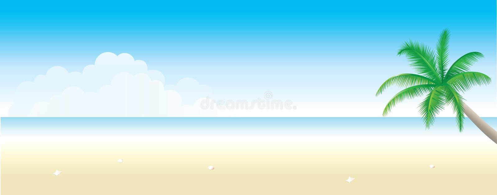 Beach Background royalty free illustration