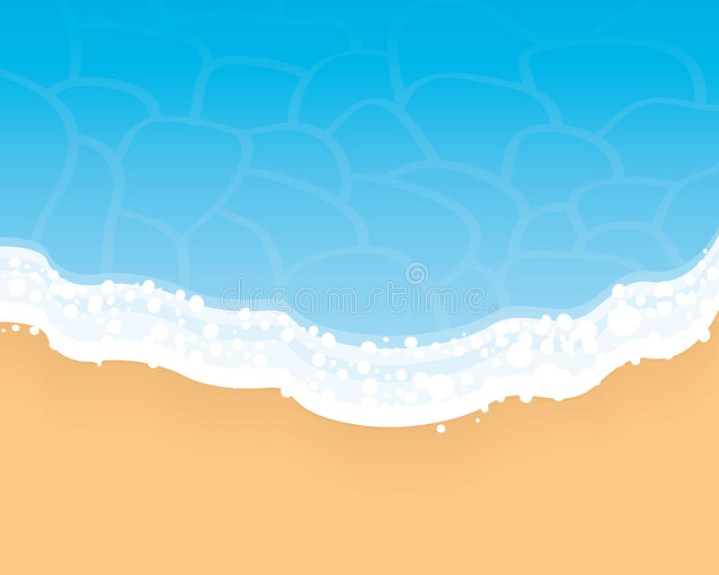 Download Beach background. stock vector. Image of seascape, cloud - 24371183