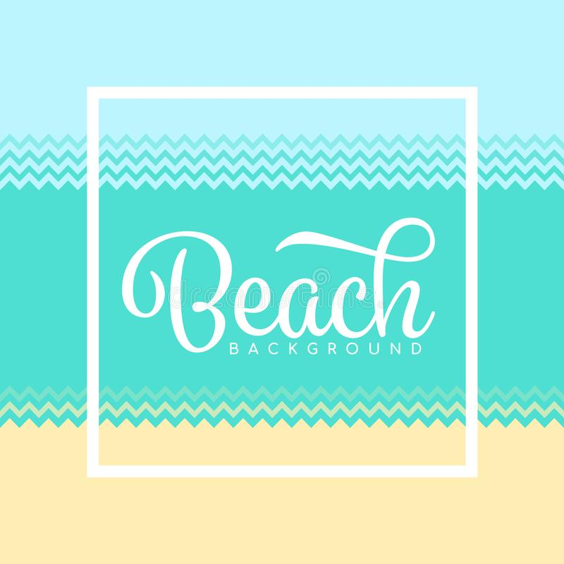 Beach background with simple zig zag style sand water sea and sky vector design vector illustration