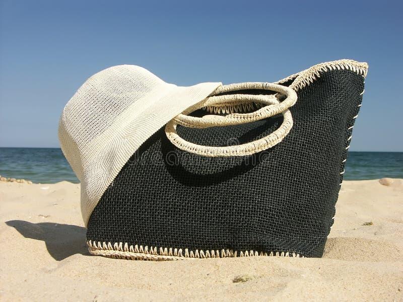 Beach bag stock photography