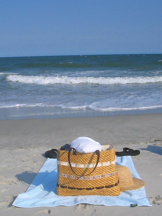 Download Beach bag stock image. Image of tropics, vacation, sand - 146699