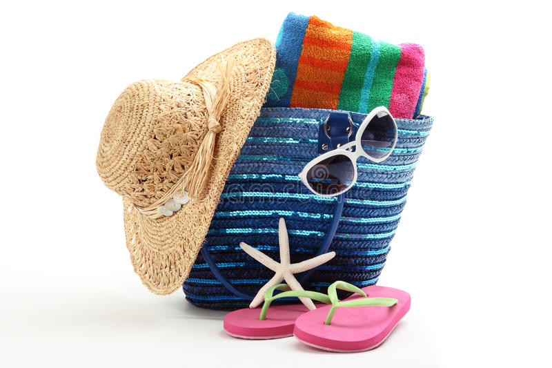 Beach bag stock image
