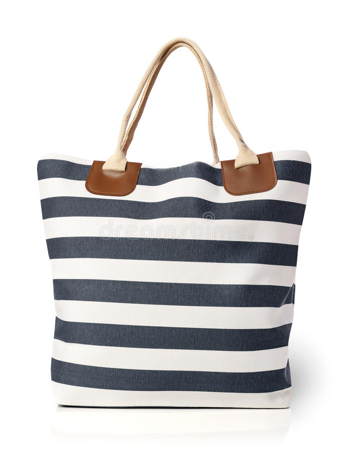Beach bag isolated royalty free stock image