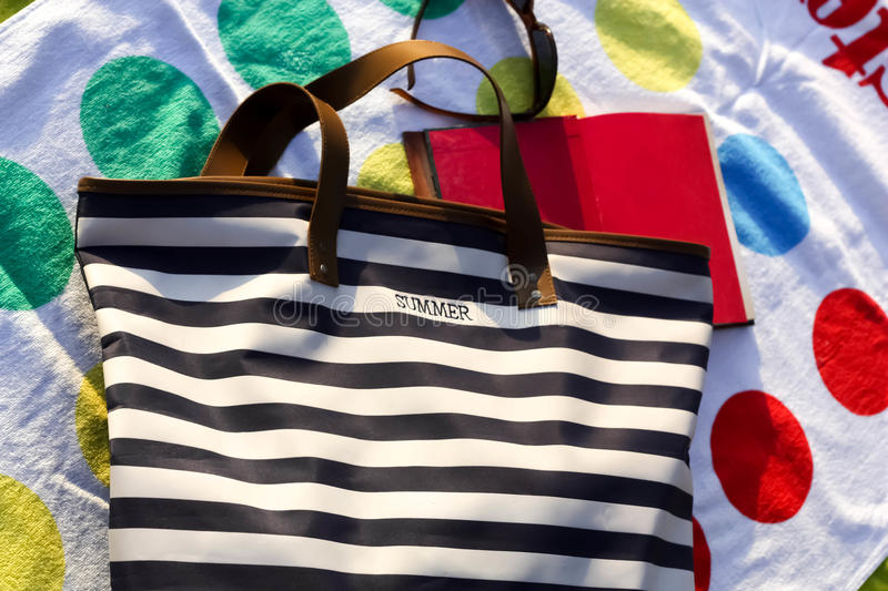 Download Beach Bag stock image. Image of towel, time, relax, summer - 32177079