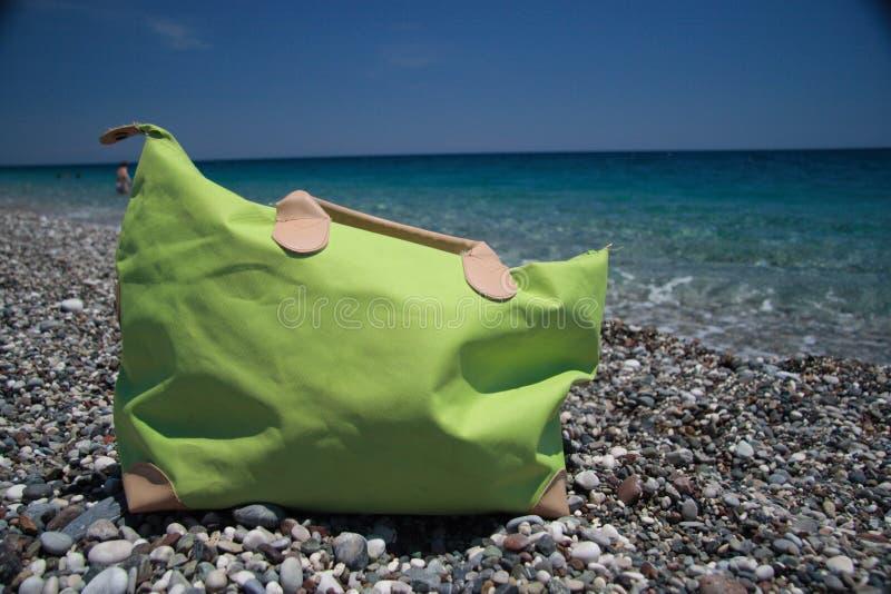 Beach bag, summer holiday dreams royalty free stock photography