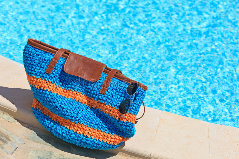 Download Beach Bag On Summer Vacation Stock Photo - Image: 32098420
