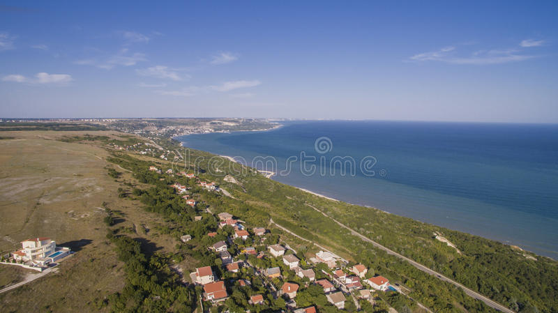 Beach in Balchik from Above, Bulgaria. Nice view of Balchik from Above royalty free stock image