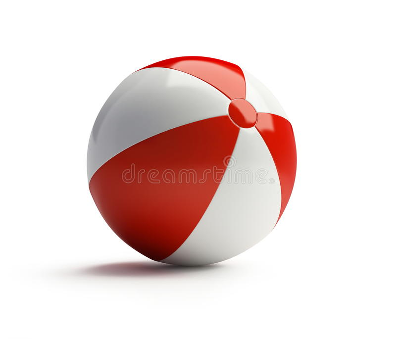 Download Beach ball stock illustration. Image of yellow, play - 10747521
