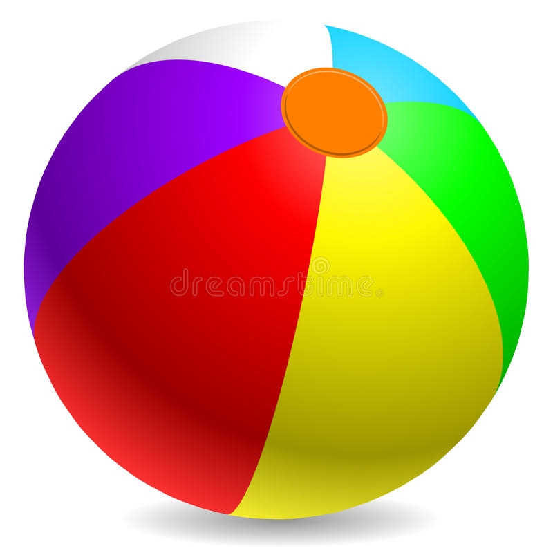 Download Beach ball stock vector. Image of inflate, horizontal - 12760024