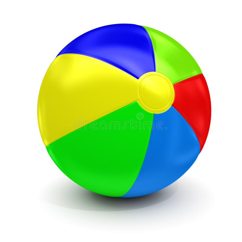 Download Beach ball stock illustration. Image of bounce, shape - 26992925