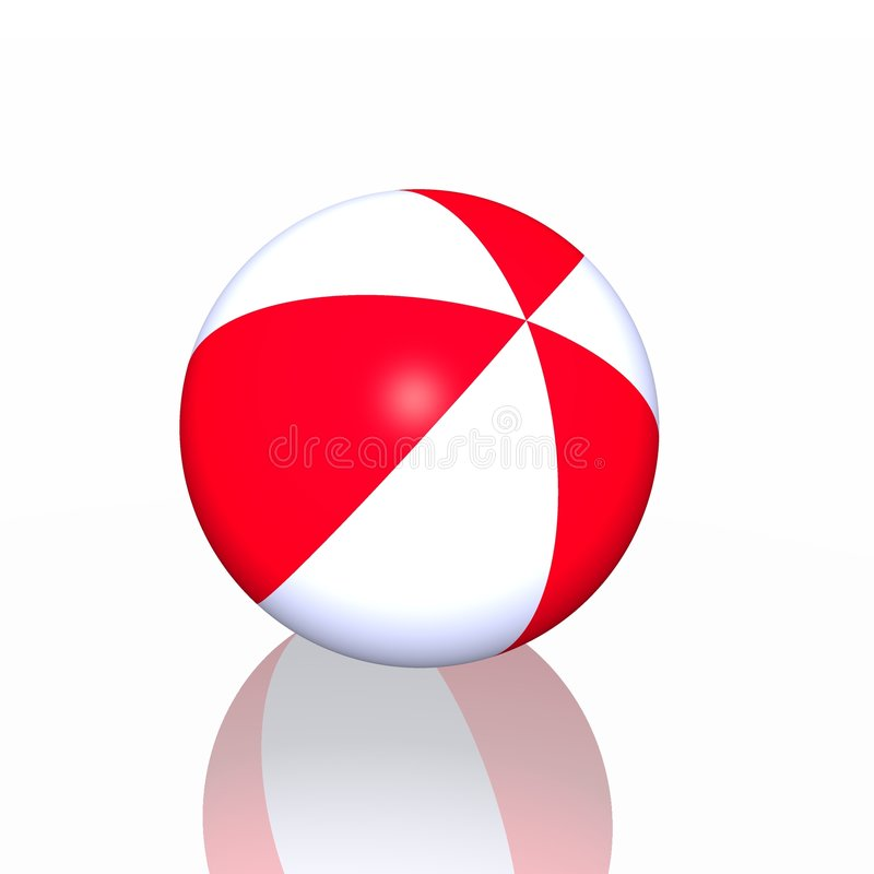Download Beach ball stock illustration. Image of blow, bounce, circle - 8898977