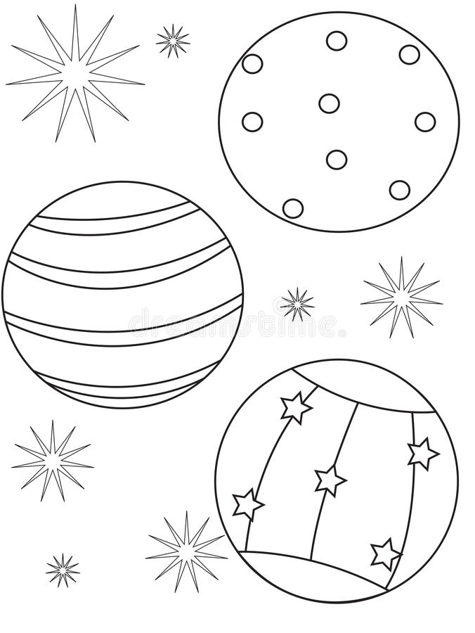 Download Beach Ball Coloring Page Stock Illustration