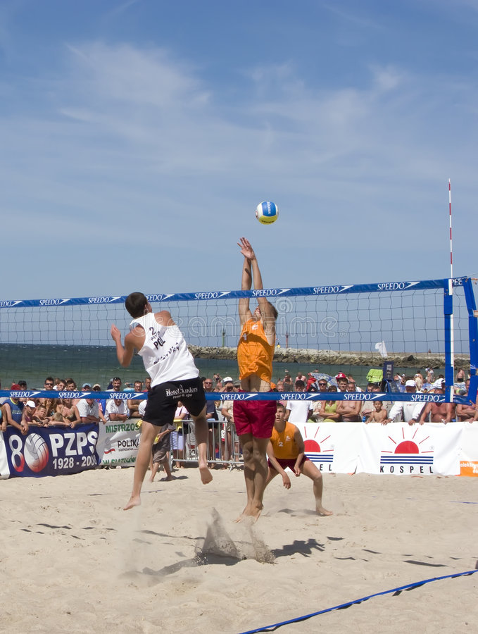 Beach ball finals royalty free stock photography