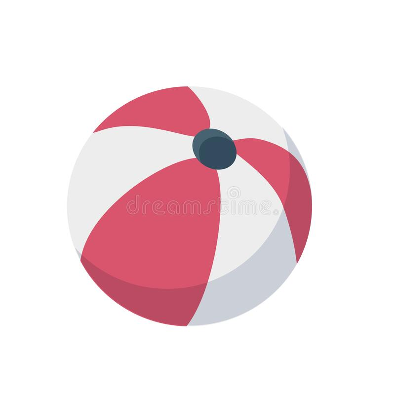 Free Beach Ball For Playing On Vacation On A White Background Royalty Free Stock Photo - 215884425