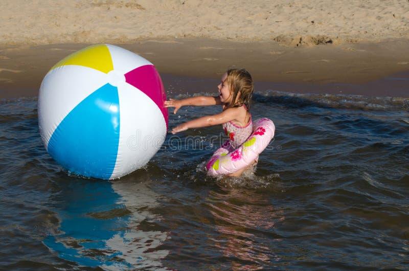 Beach ball fun stock images