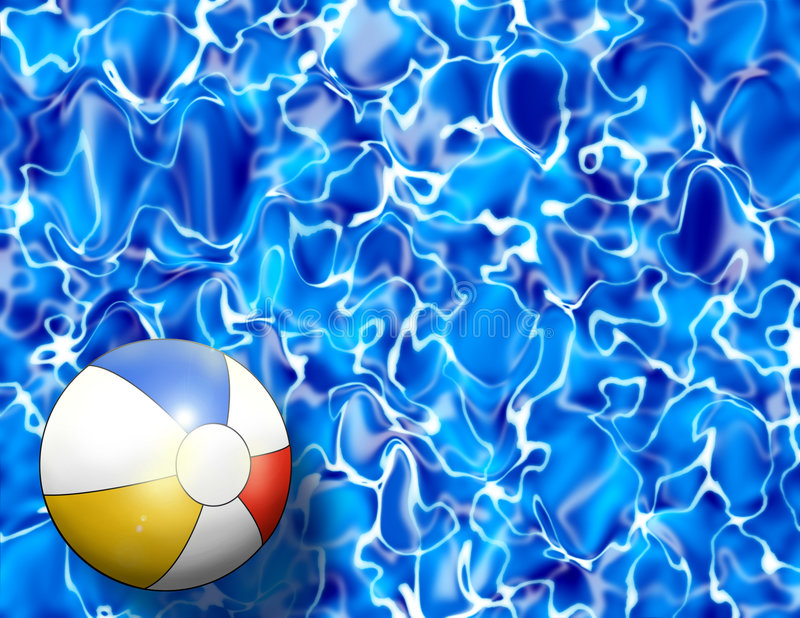 pool water with beach ball. Download Beach Ball In Pool Water Illustration Stock - Of Refreshing, Activity: With E