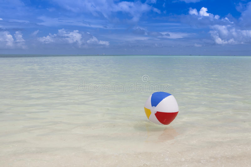 Download Beach ball in the sea stock photo. Image of beachball - 27411390