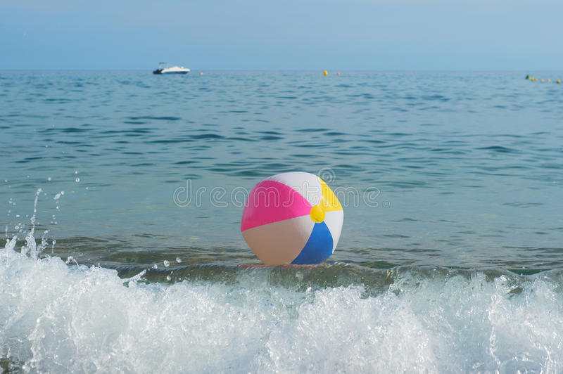 beach ball in ocean. Download Beach Ball In Sea Stock Image. Image Of Costa, Playing - 76108515 Ocean I