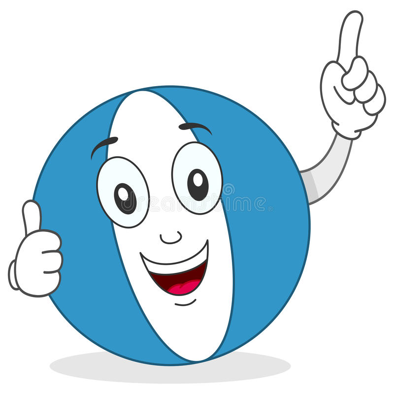 Download Beach Ball Thumbs Up Character Stock Photo - Image: 30783770