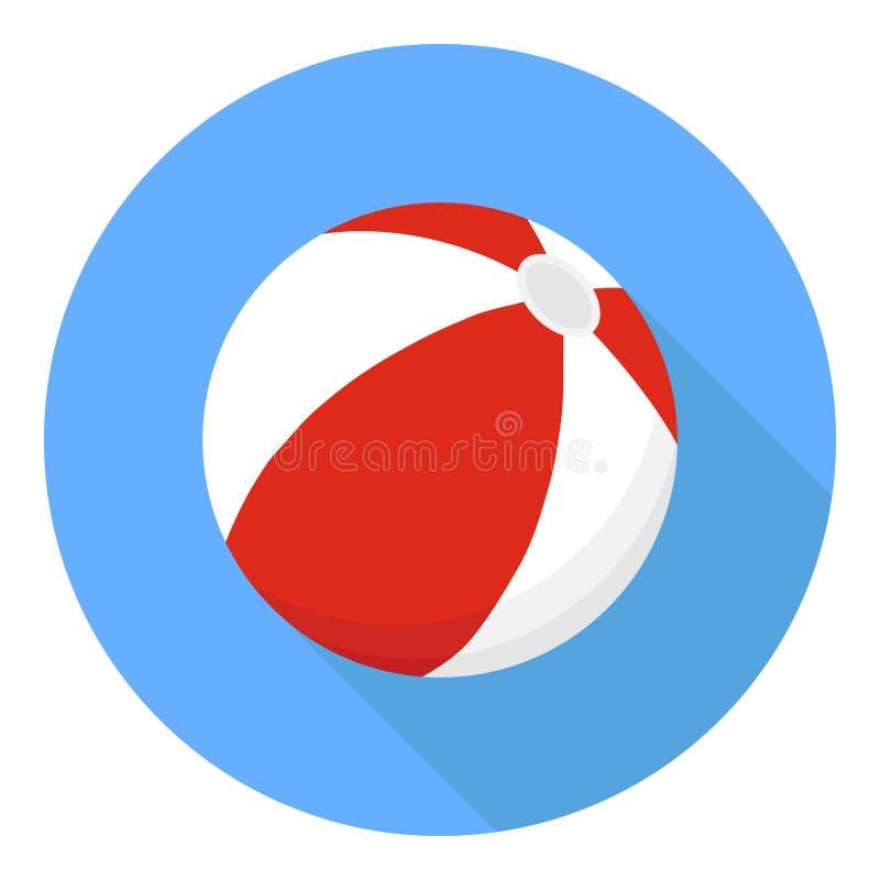 Beach ball Un beach ball di colore rosso su un fondo blu con un'ombra royalty illustrazione gratis