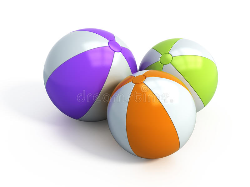 Download Beach balls stock illustration. Image of balloon, colourful - 12912425