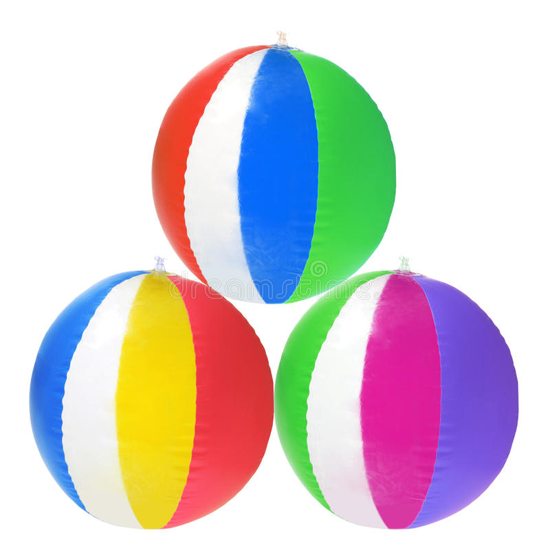 Beach Balls. On White Background royalty free stock photography
