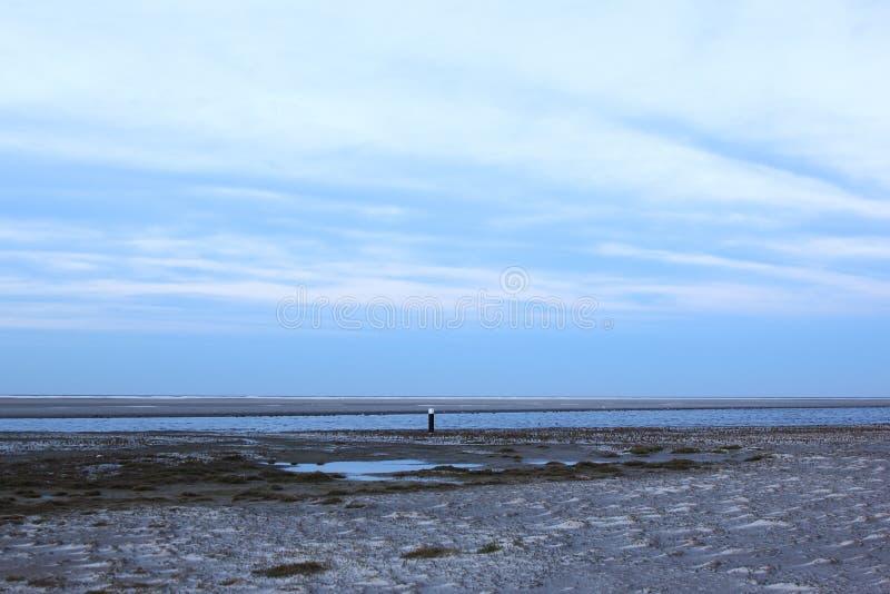 Beach of Ballum, Ameland Island, Netherlands stock images