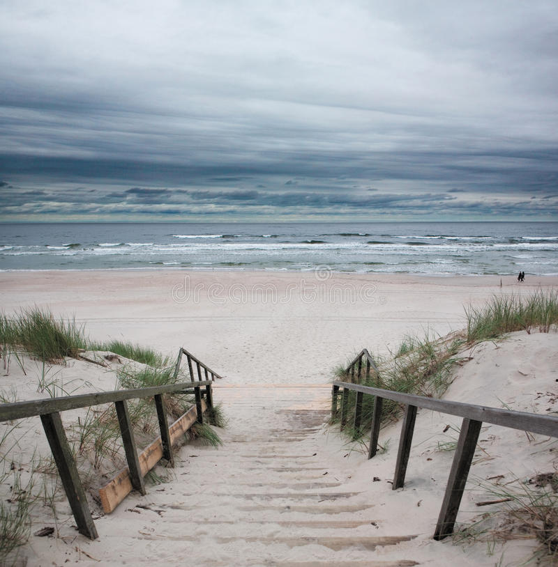Download Beach - Baltic Sea stock photo. Image of remote, stairway - 15418656