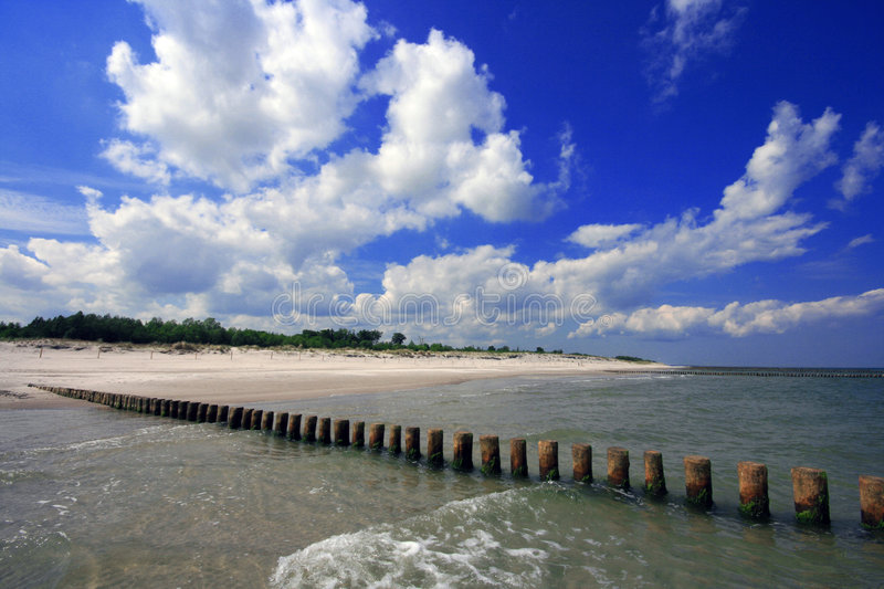 Beach at Baltic Sea stock images