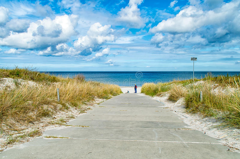 Beach on the Baltic Sea royalty free stock images