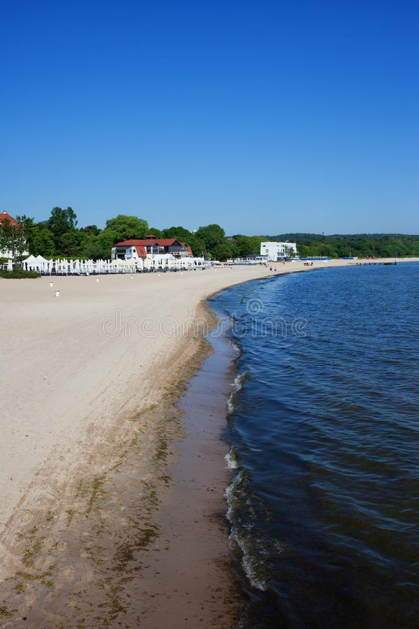 Baltic Sea Beach in Sopot royalty free stock photography