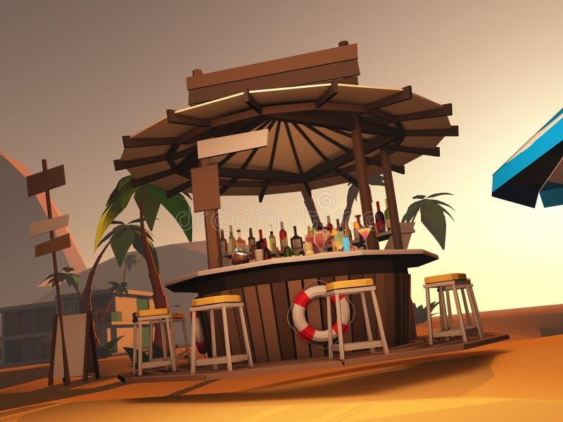 Beach bar stock illustration